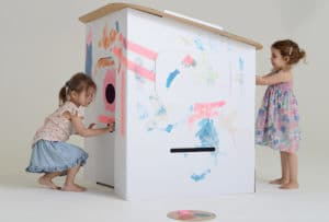 painted childrens playhouse