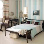 Pale blue wall stripes
