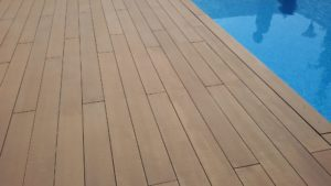composite deck stripped with Prepdeck & Net-Trol
