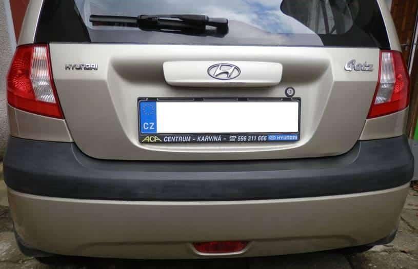 Car bumper before Owatrol Polytrol