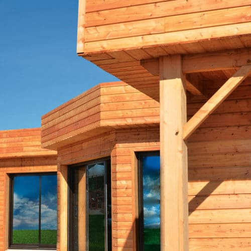 Textrol being used to protect wood cladding