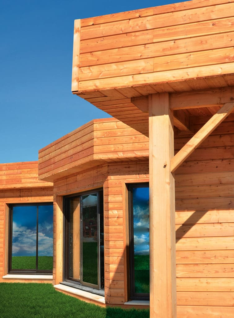 Textrol being used on wood cladding