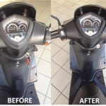 Moto 1 before and after