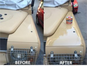 restore shine to paintwork using Polytrol