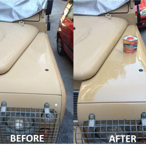 Car paintwork revived with Polytrol