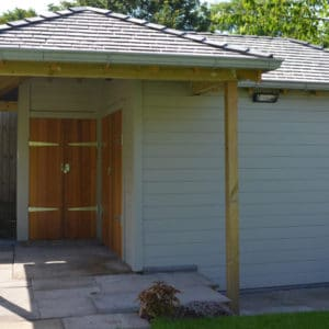 Wood cladding finished with Shed & Fence paint