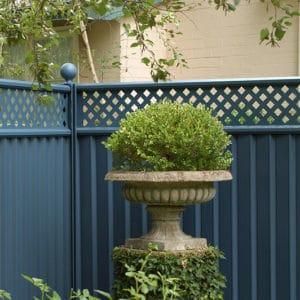 Beautifully finished garden fence
