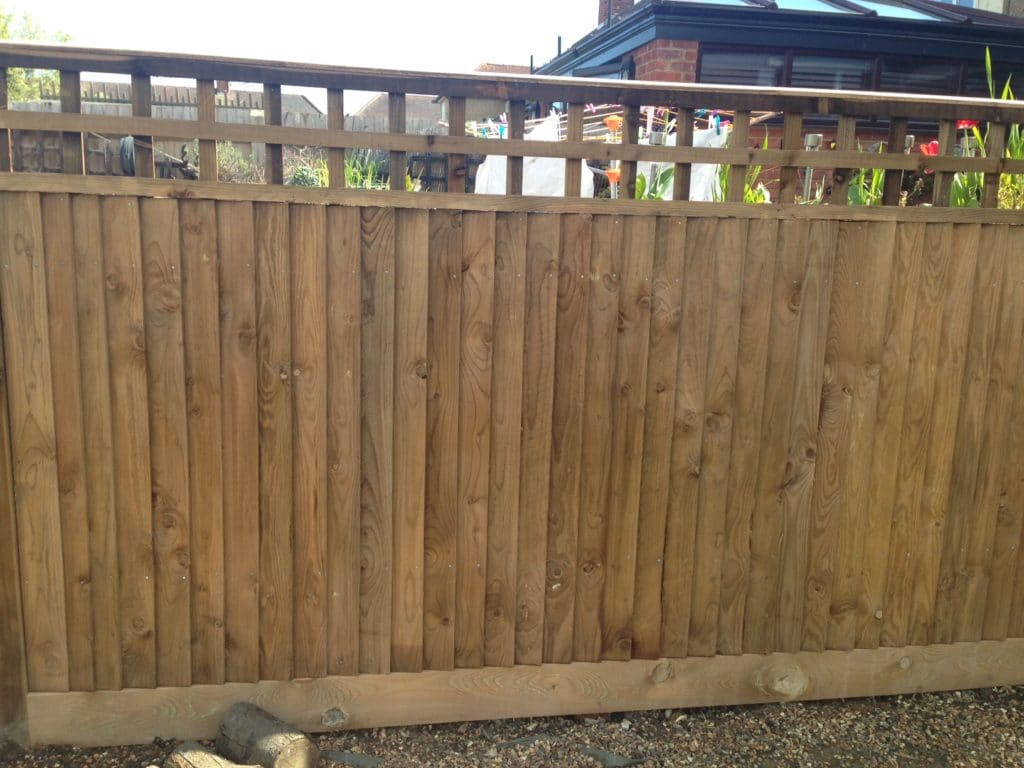 My fence after aquanett and Net-trol