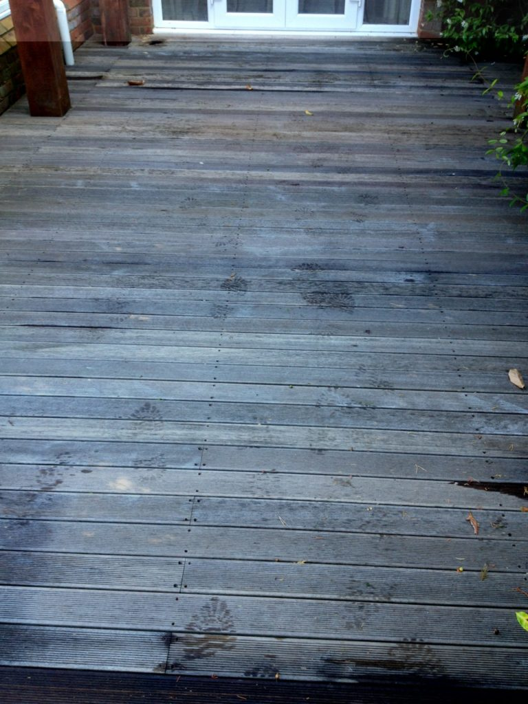 Garden Decking before treatment