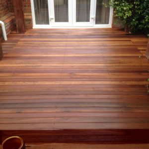 Garden decking finished with Textrol