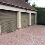 Aluminium Powder Coated Garager Doors before Polytrol