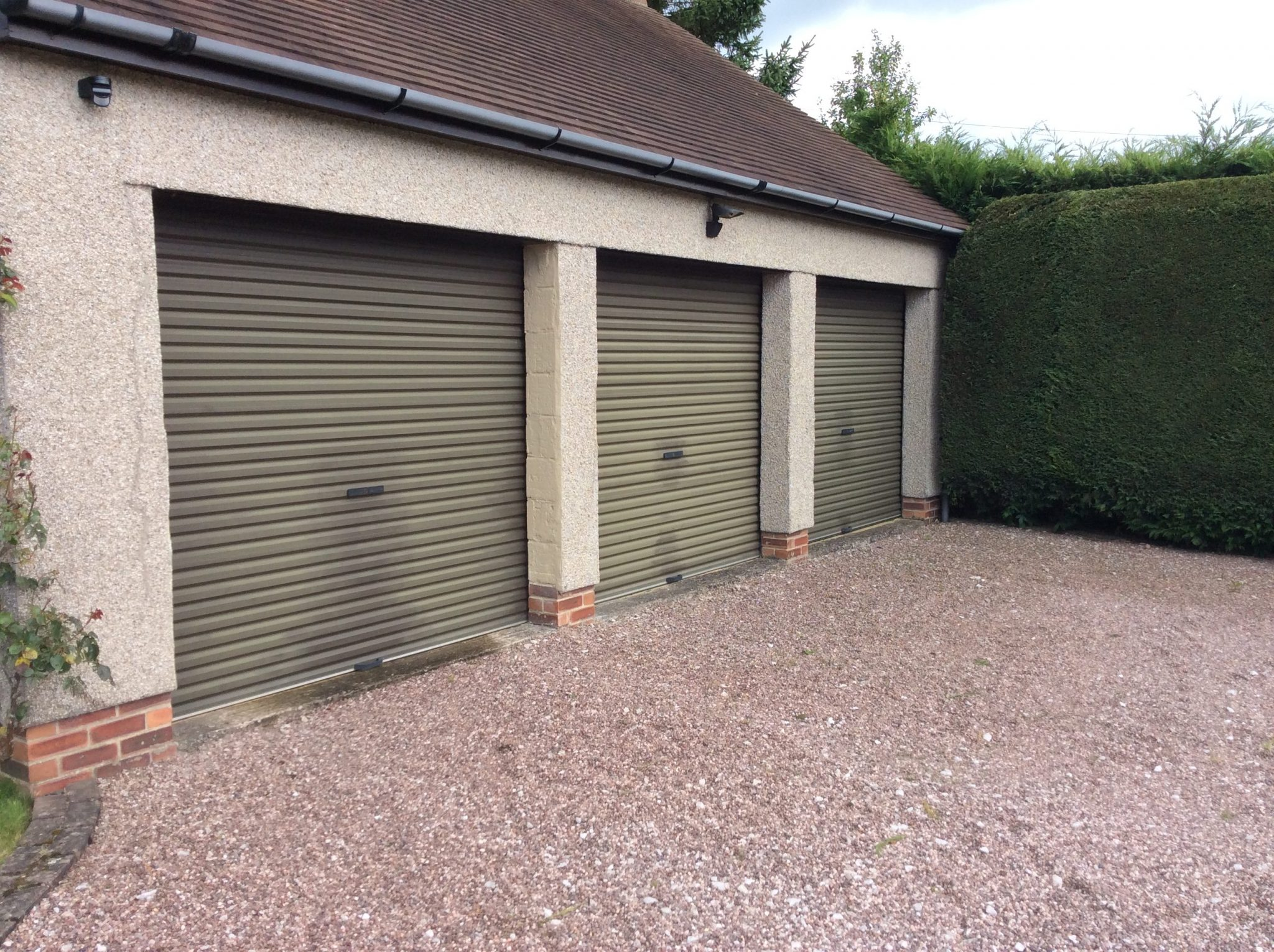 The Doors Are Of The Roller Shutter Variety And Were Installed In 1991.  They Are South Facing And Had Been Faded Badly With Some WD40 Staining  Around The ...
