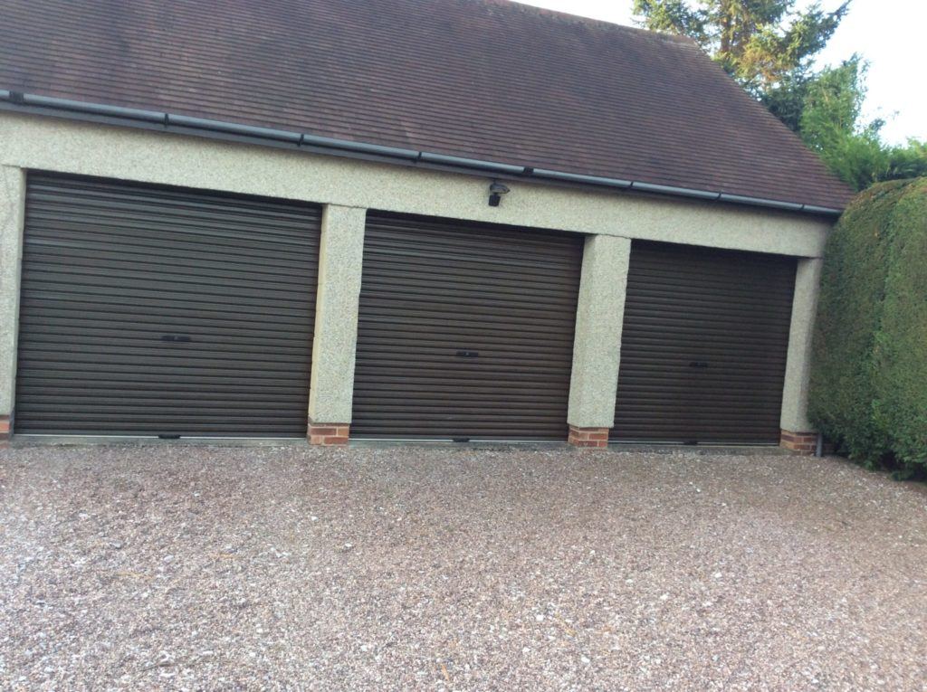 Aluminium Powder Coated Garage Doors after Polytrol