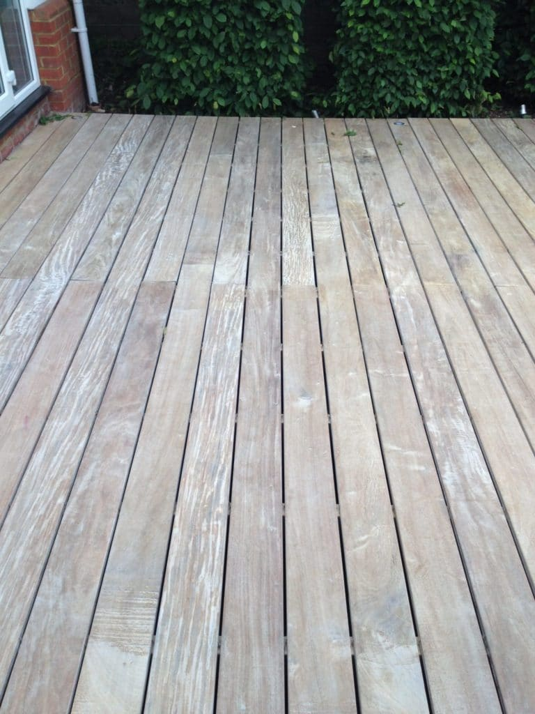 Ipe decking after neutralising with Net-Trol