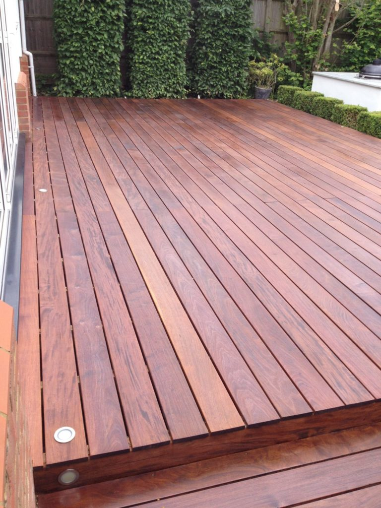 IPE Decking treated with D1 Pro