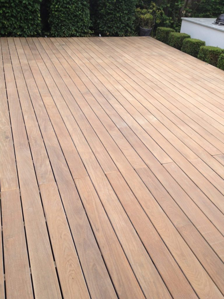 Ipe decking after stripping and sanding