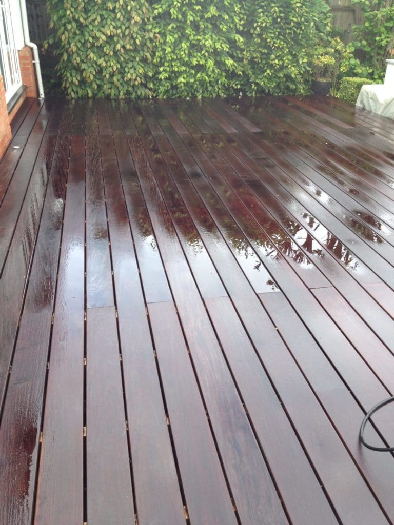 IPE Decking Stripped with PRepdeck