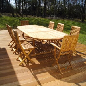 Renovated treated garden furniture