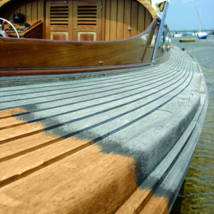 Deck Cleaner in action on a boat deck