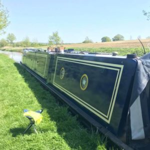 Polytrol on a narrowboat