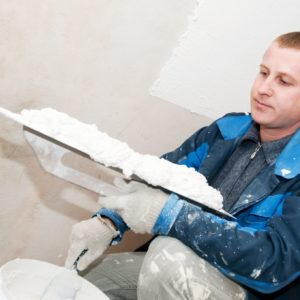 Use Floetrol to help paint a newly plastered room