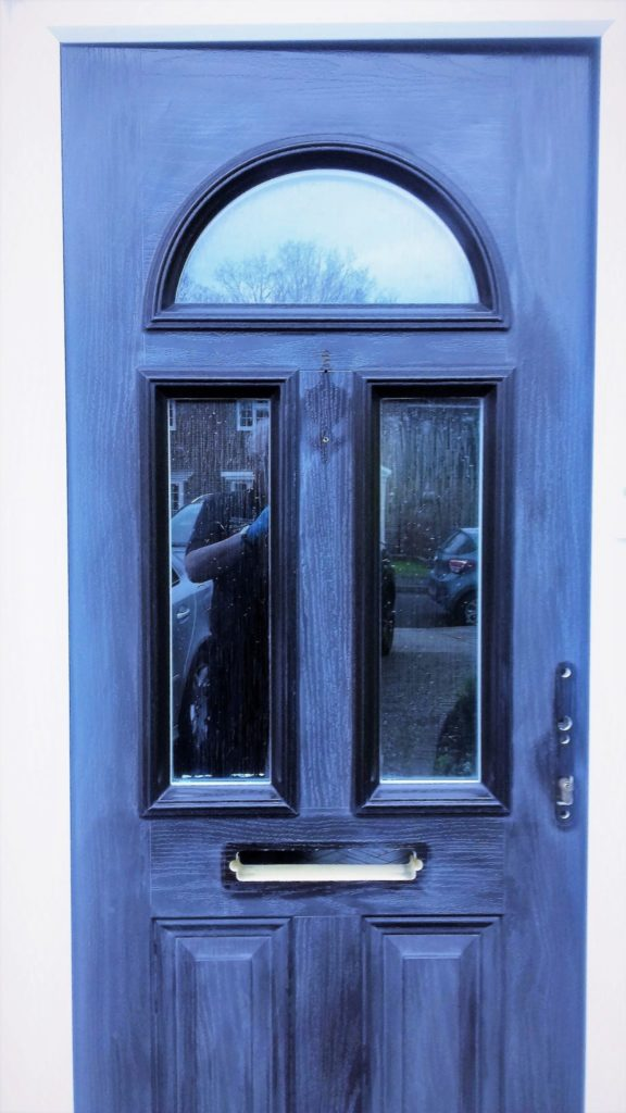 Composite Front door faded - before Polytrol is used