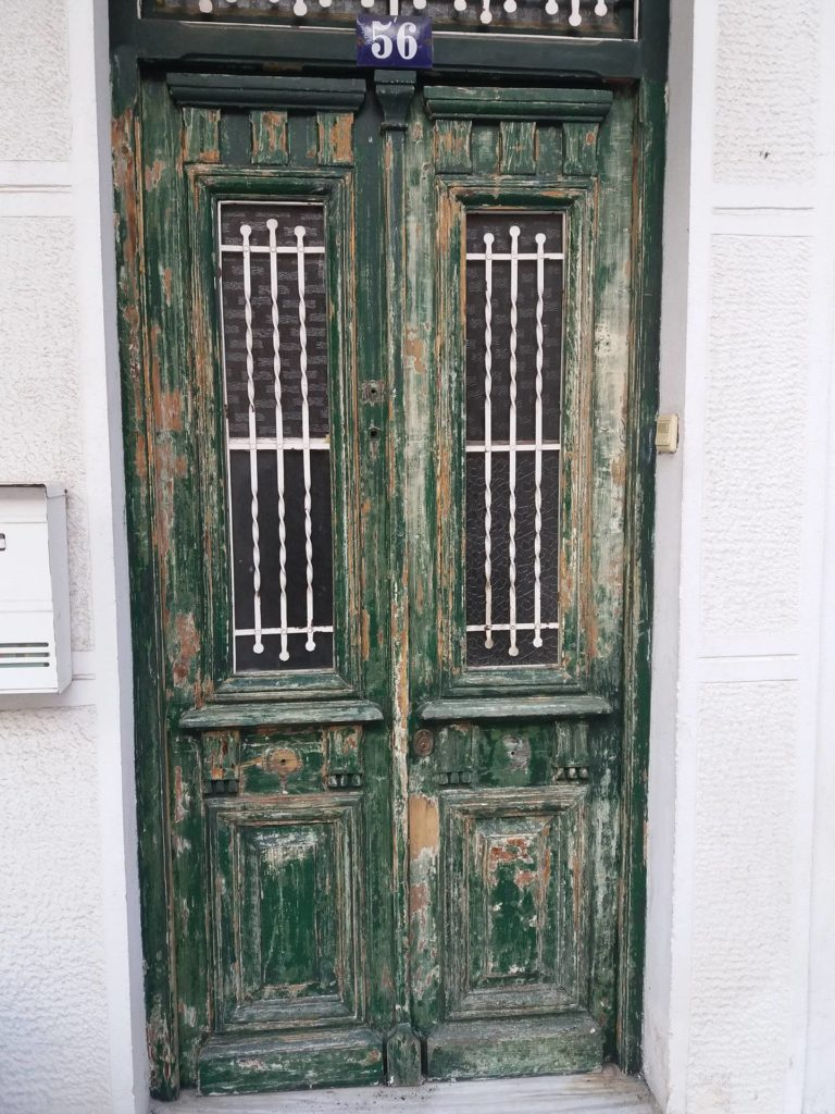 Damaged door before any Owatrol products were used