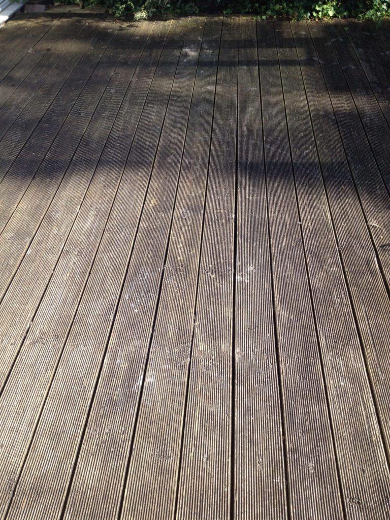 Reeded decking before