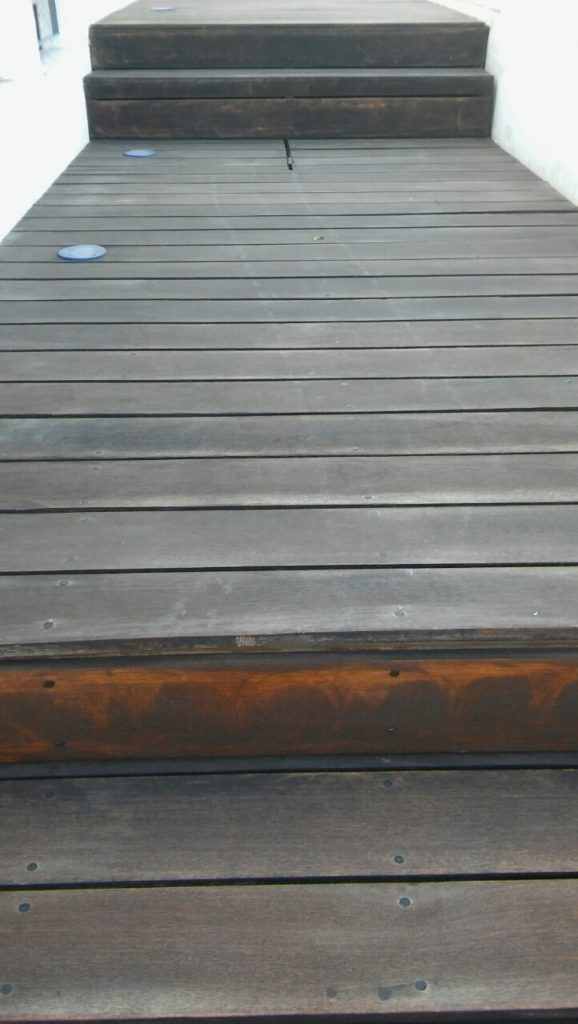 Poolside decking after failed high street decking oil