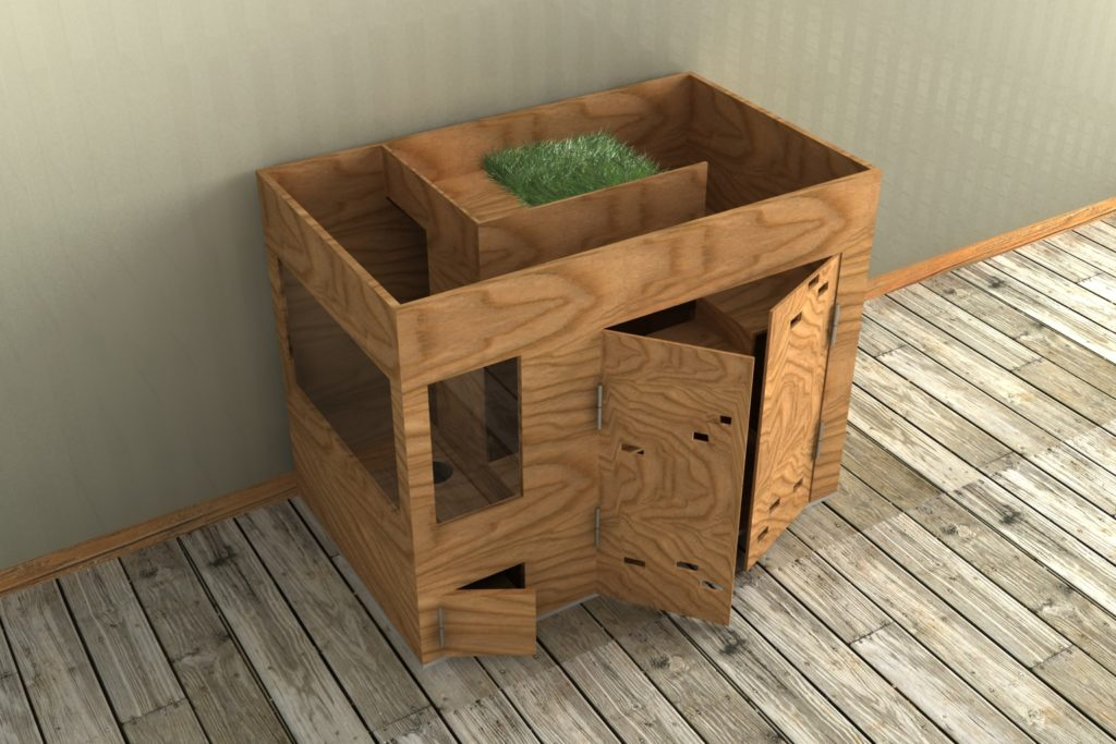Green roof rabbit hutch