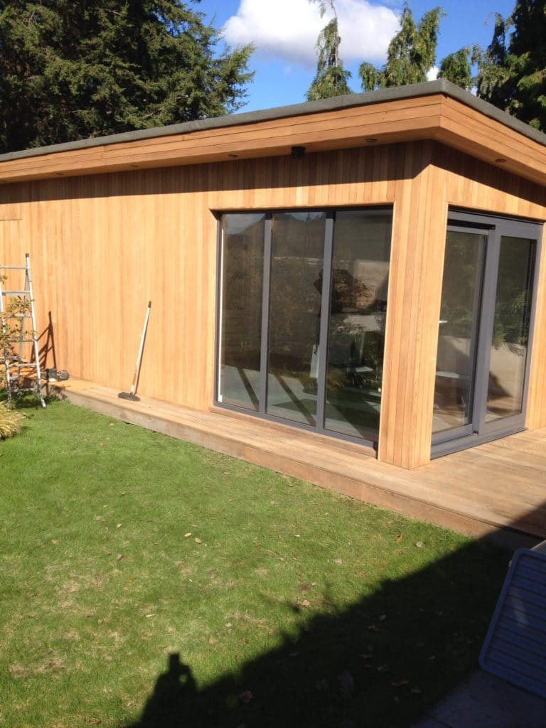 Garden office finished with Aquadecks