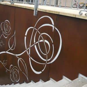 Oxid Vernis on decorative metal fascia