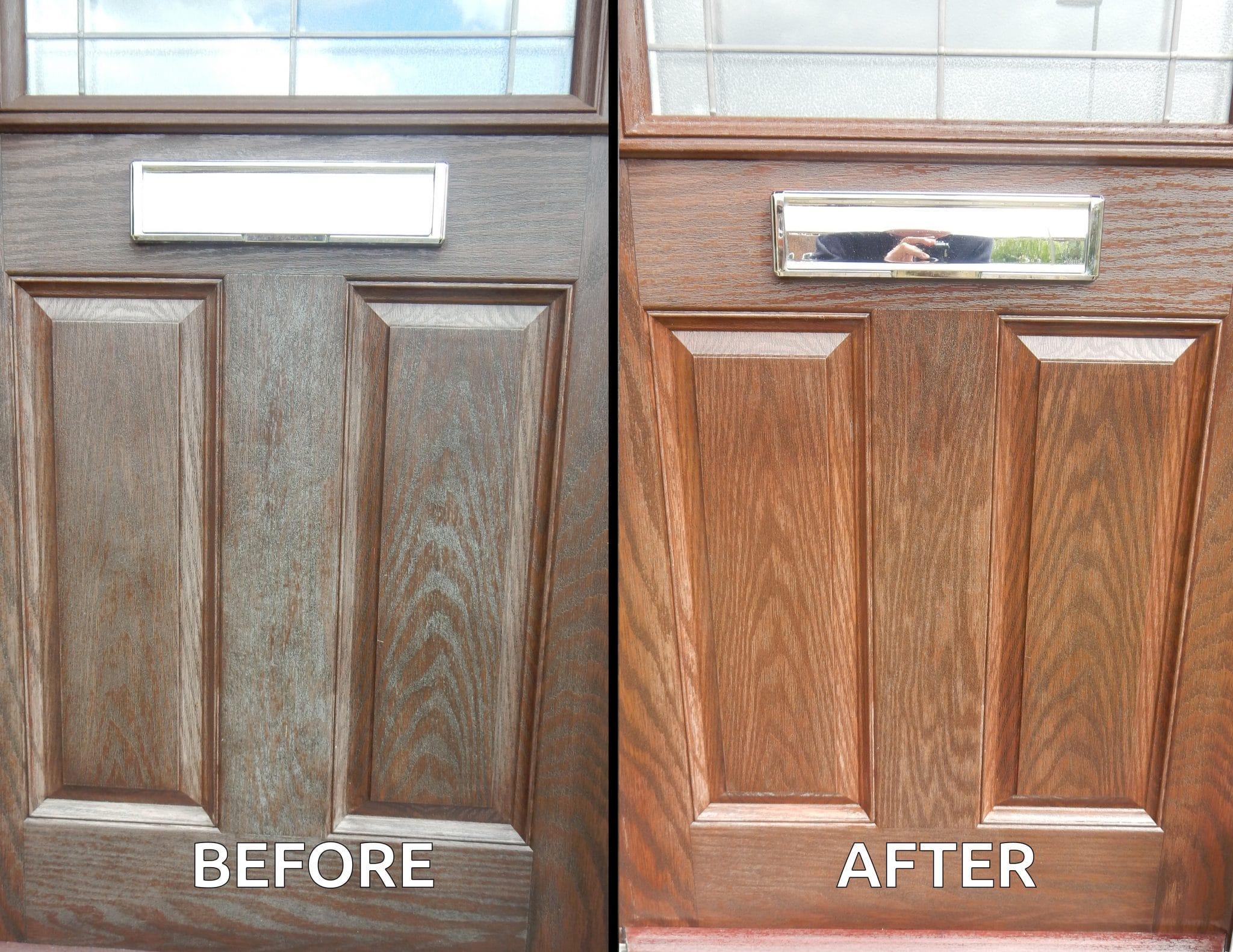 How to restore a wood effect composite door | Owatrol Direct