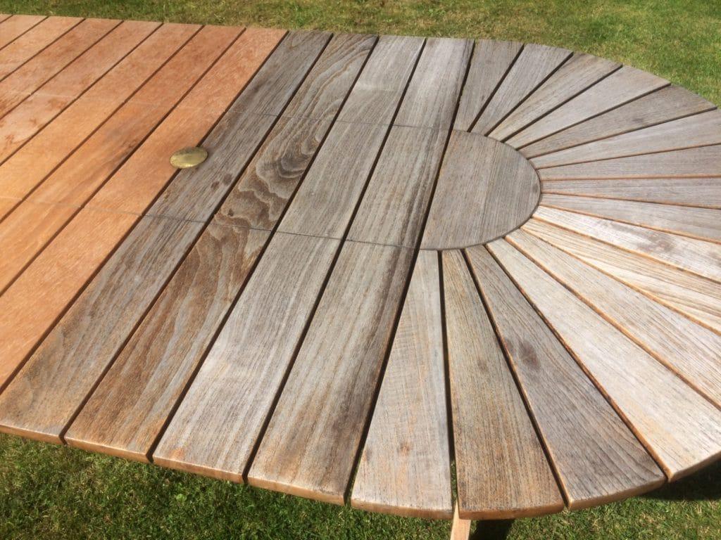 Garden table before
