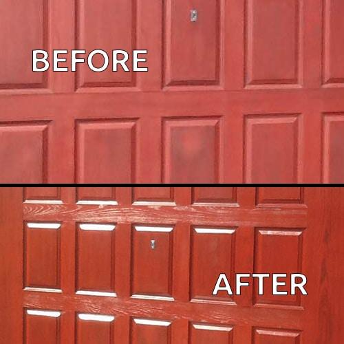 Polytrol before after-garage