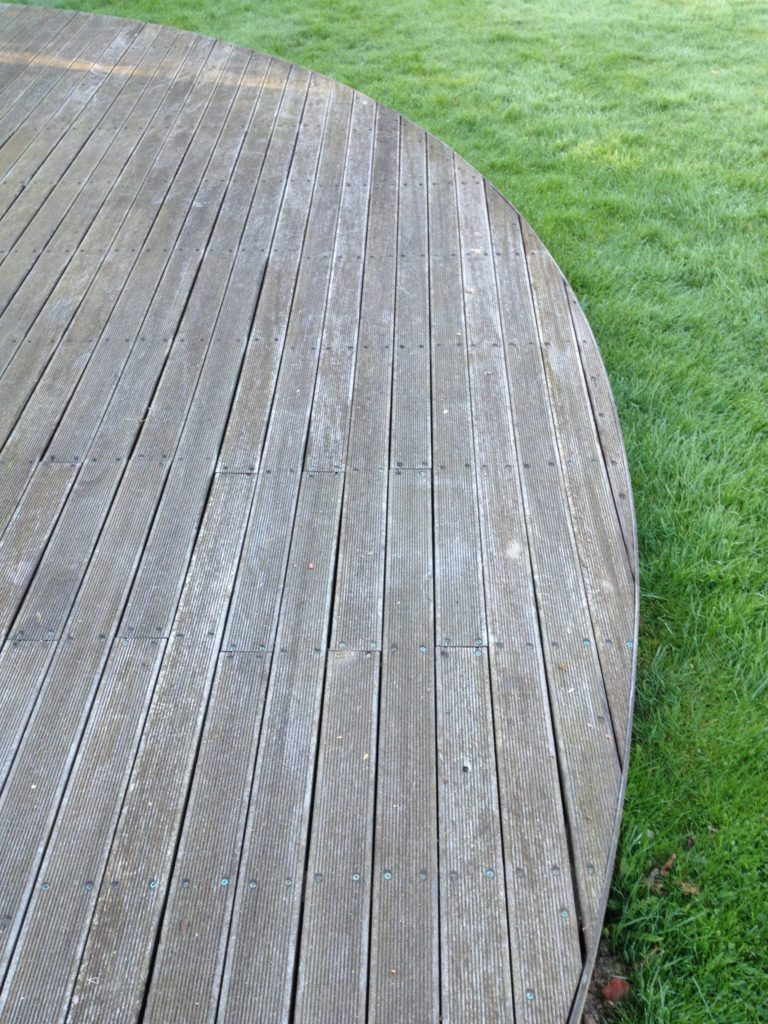 balau decking before