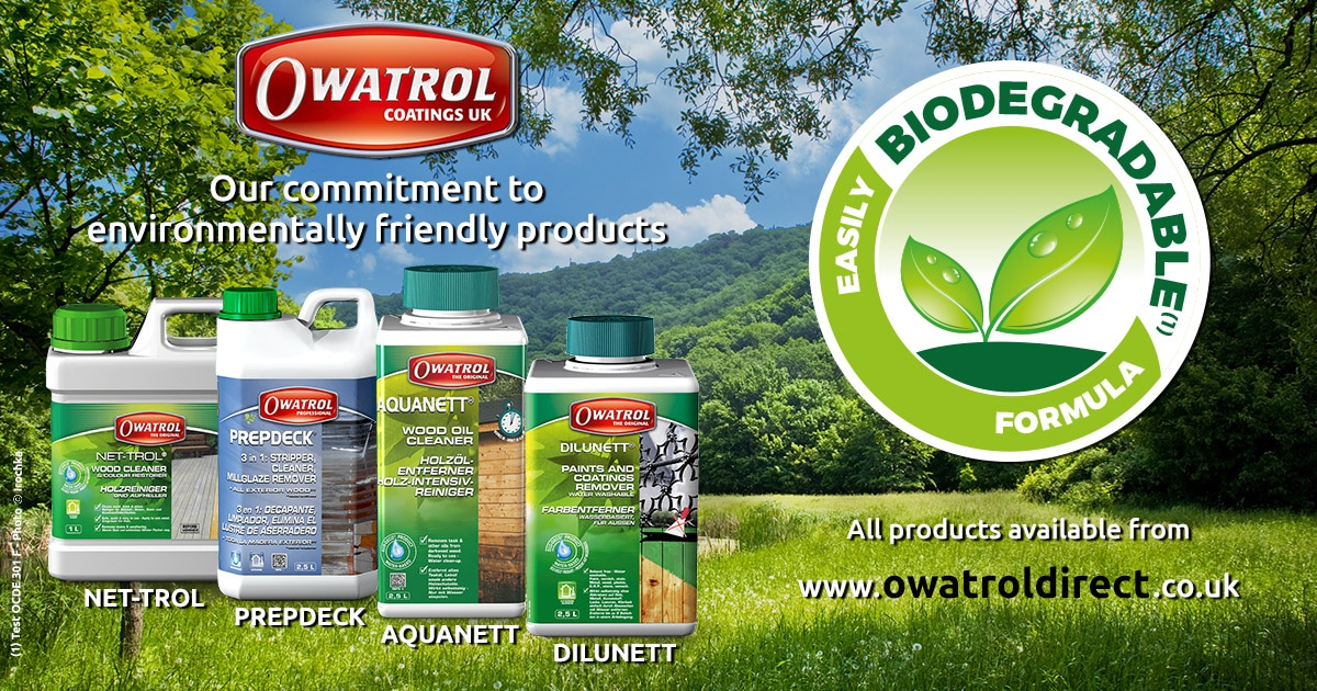 Eco Friendly wood care products from Owatrol