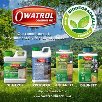 Owatrol's eco friendly woodcare products