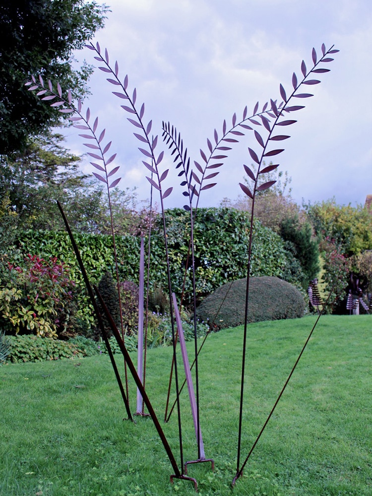 Grass sculpture finished with Owatrol Oil