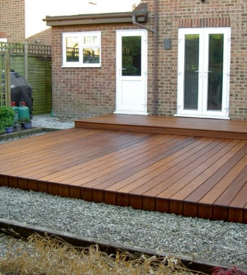 Deks Olje D1 applied to a garden deck