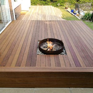Aquadekcs applied to a garden deck