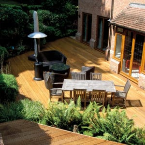 Aquadecks applied to garden decking