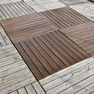Aquadecks applied to a garden deck