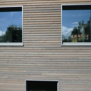 Aquadecks Graphite Grey applied to cladding