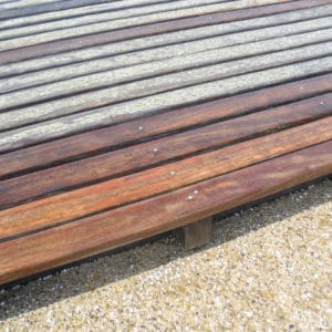 Aquanett applied to garden deck