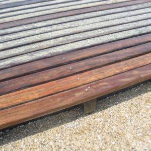 Aquanett applied to garden deck