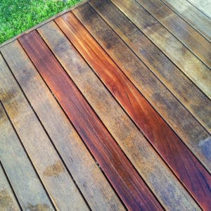 Aquanett removing previous finish from decking