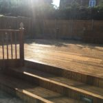 Deck after being cleaned with Net-Trol