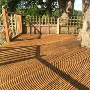 Garden deck restored with Prepdeck, Net-Trol and Aquadecks