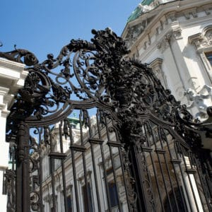 Black AP60 on gate of Belvedere Palace, Vienna